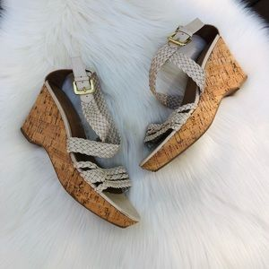 Franco Sarto Ivory Wedge Sandals